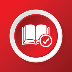 Favorite book icon on red