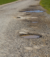 Old cracked road