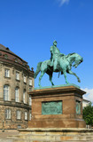 Equestrian statue of king Frederick VIII. Copenhagen, Denmark poster