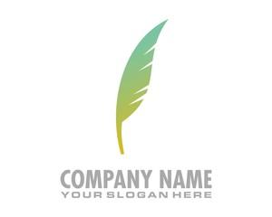bird feathers gradation logo image vector