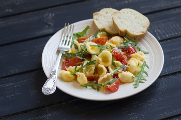 orecchiette with tomatoes and cheese