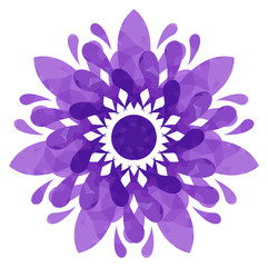 Watercolour pattern - Violet abstract flower