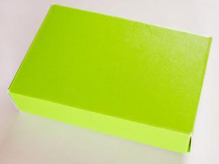 Retro look Green yellow paper box