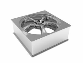 Car wheel Square Shape