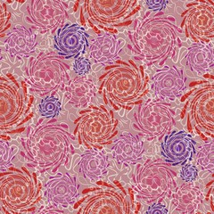 Modern summer background in red and purple with swirl