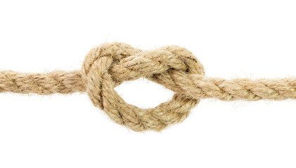 rope knot isolated on the white background