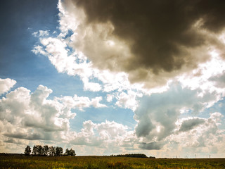 stormclouds over steppe