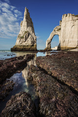 Etretat - Rocks and arch in normandy near the omaha beach