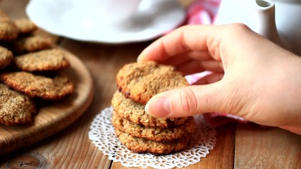 Healthy vegan coconut and banana cookies