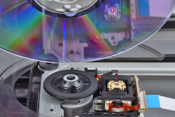 emission of laser at DVD player