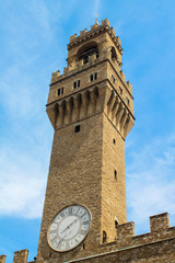 Bell tower of Palazzo Vecchio, Florence, Italy