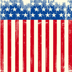 American square dirty flag