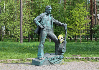 Monument of Vladimir Vysotsky in Dubna, Russia