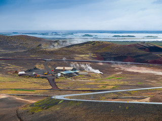 Icelandic landscape and geothermal activity