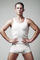 Guy in underwear