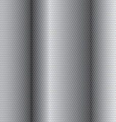 Steel honeycomb-patterned background.