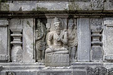Sculptural decoration. Prambanan. Indonesia
