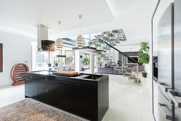 Luxurious interior of estate
