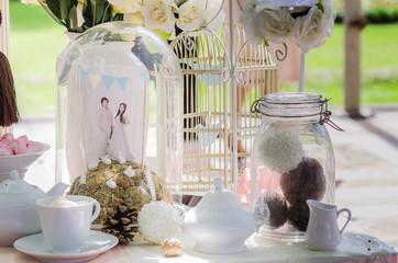 wedding decoration on the cake