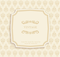 Gold  Vintage Invitation and Greeting Card