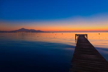 Majorca Muro beach sunrise Alcudia Bay Mallorca