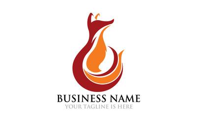 Elegant Flame Fox Logo