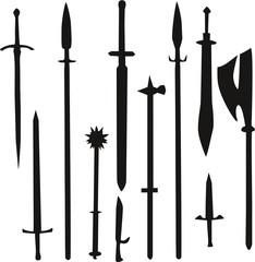 Fantasy Waffen Set der Menschen