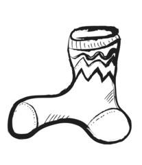 doodle woolen socks