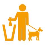 Icono aislado excrementos caninos naranja - 83398773