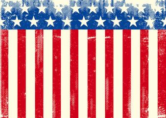 Horizontal American grunge flag