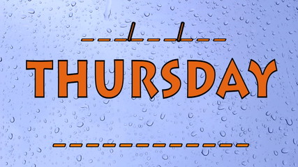 Thursday Days of the week