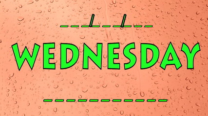 Wednesday Days of the week
