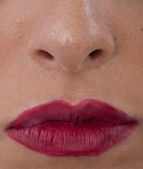 Viso bocca labbra e naso