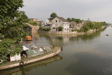 Grand Canal in Wuxi, Jiangsu province China.