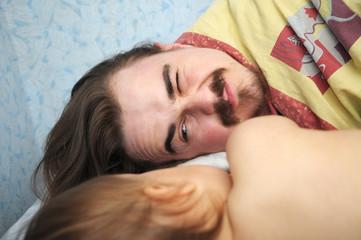 daddy awaking