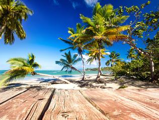 Karibischer Traumstrand mit Bootssteg :)