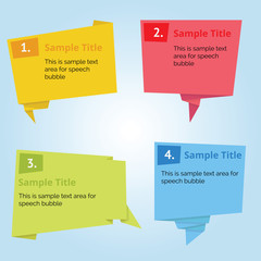 Infographic Speech Bubble with Origami Paper style