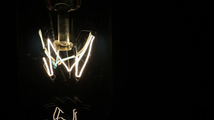 electric lamp. Black background