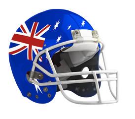 Flagged Australia American football helmet