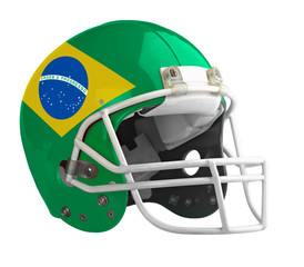 Flagged Brazil American football helmet