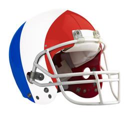 Flagged France American football helmet