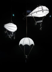 White decorative lanterns