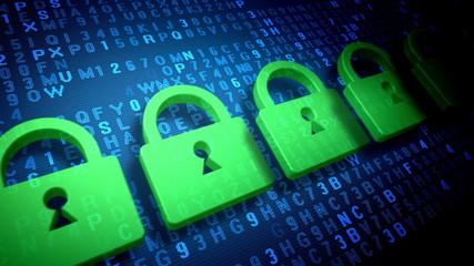 Computer data security concept.