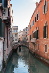 Häuser am Kanal in Venedig