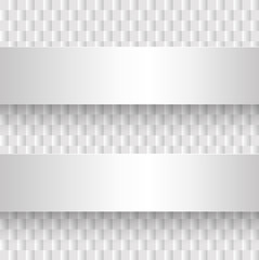 Abstract background with square pattern and banners light grey