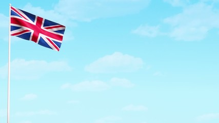 UK British flag HD video animation