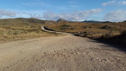 Camino de montañas