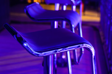 Empty Bar Stool in Night Club