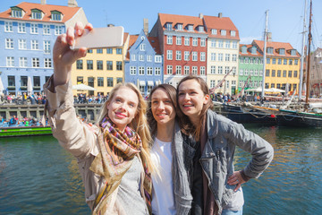 Group of women taking a selfie in Copenhagen