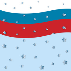 american flag theme with stars  red blue white